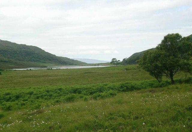 Landward approach to Loch a Ghlinne