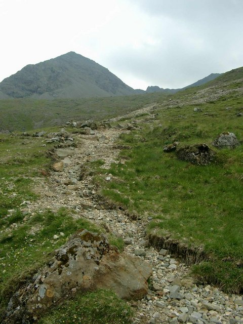 The path into the Fionn Choire