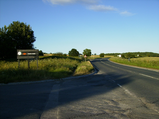 The A170 road near the junction to Appleton-le-Moors