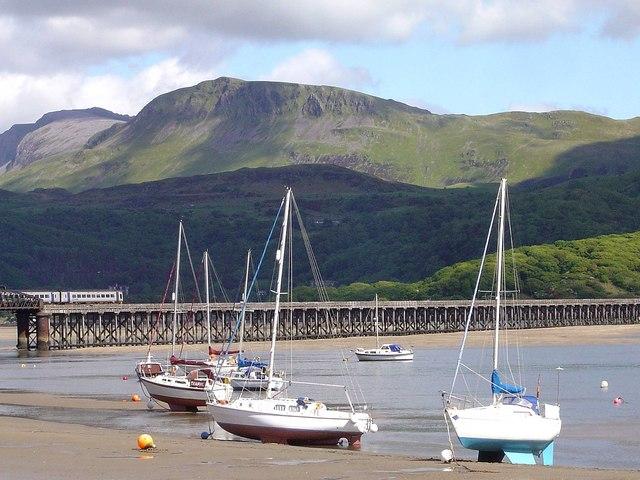 Barmouth Bridge and Cader Idris