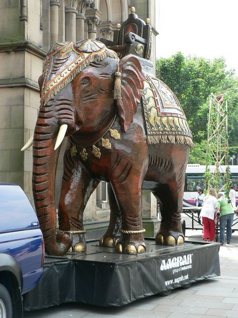 Elephant by Bradford City Hall
