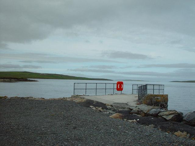 The Pier at Mossbank, Shetland