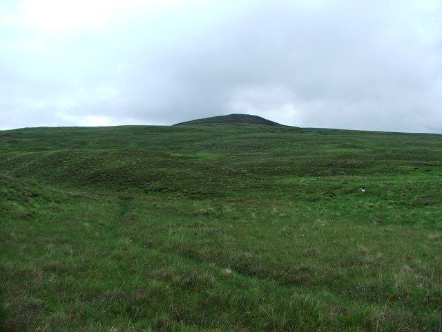Grassy slopes of Meall nan Sac