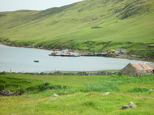 Pier at Colla Firth, Shetland