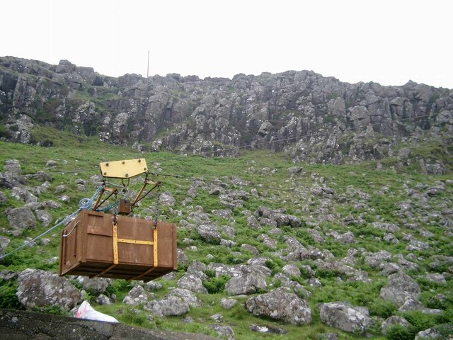 Aerial cableway at Neist