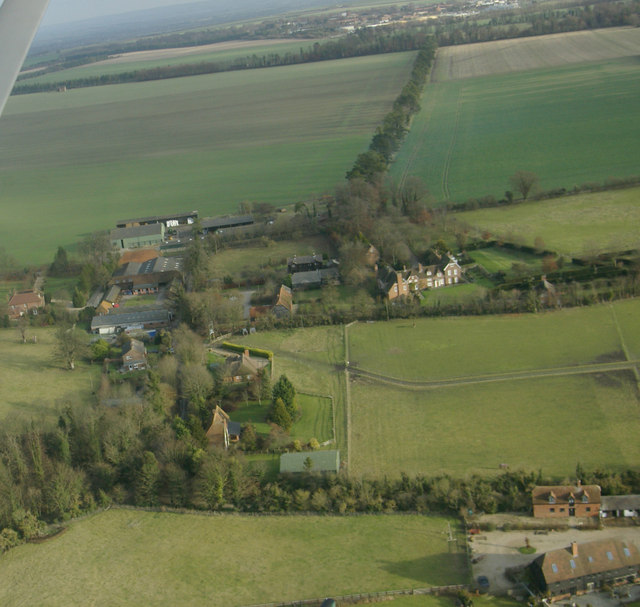East Ginge from the air