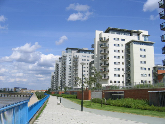 apartment blocks, Royal Arsenal site