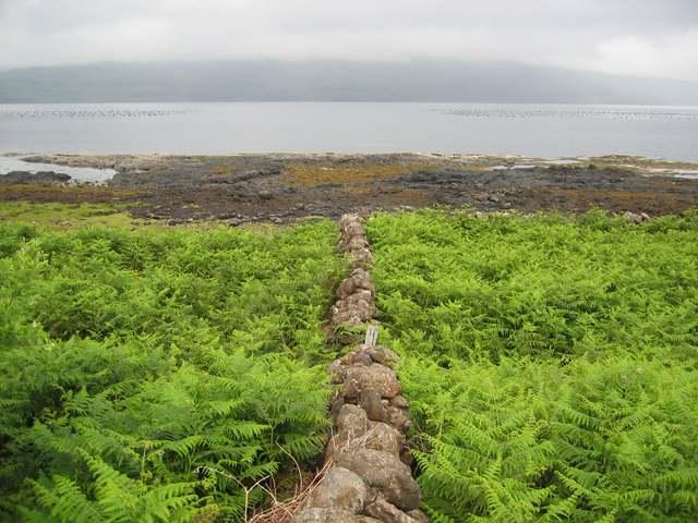 Wall by Loch Scridain