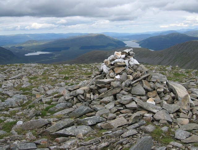 Cairn at southeastern end of Ben Alder