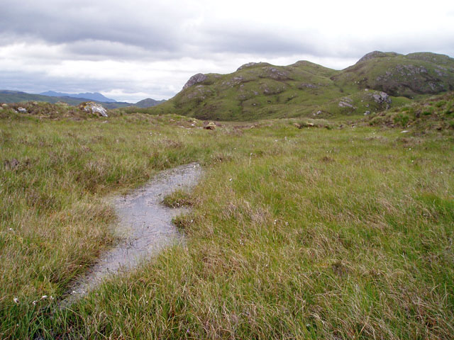 Bog on the west ridge of Beinn a' Mheadhoin