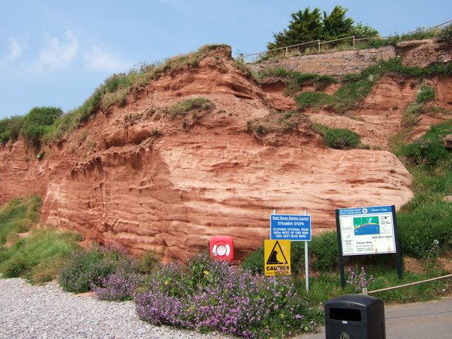 Cliffs at Budleigh Salterton.