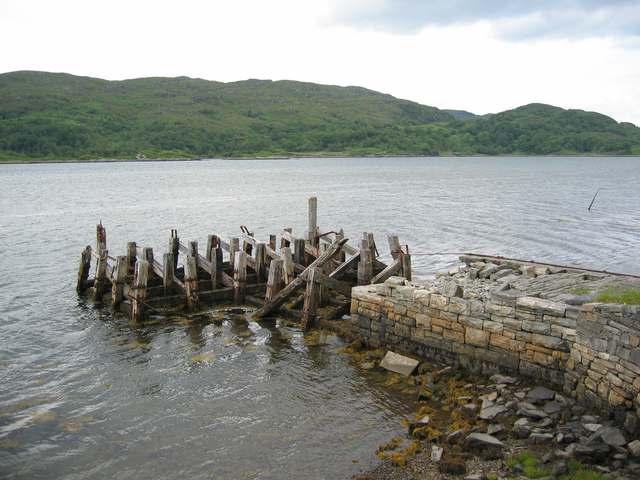 Old pier on Loch Moidart
