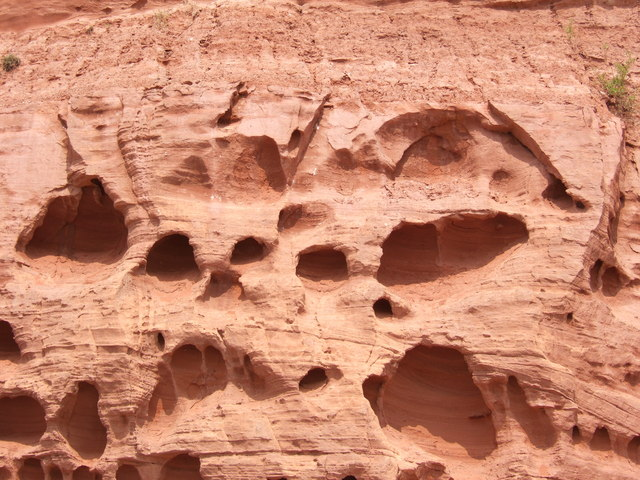 Cliff face at Budleigh Salterton.