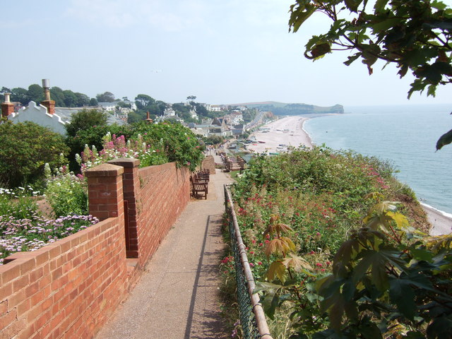 Cliff path at Budleigh Salterton.