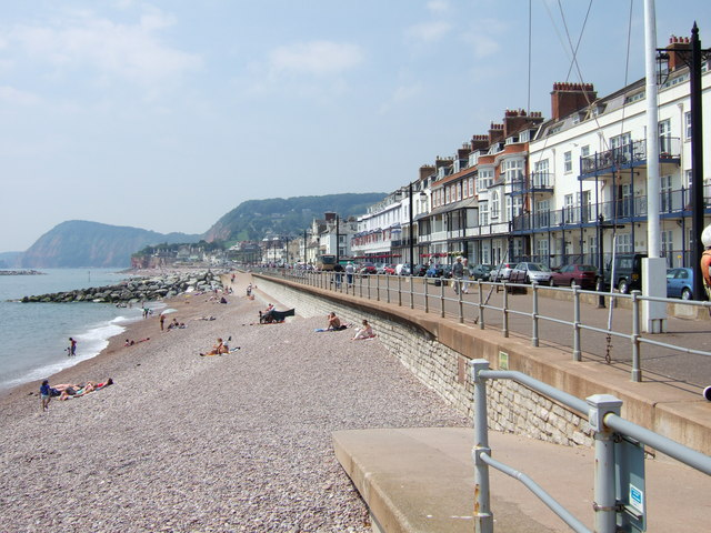 Seafront at Sidmouth, South Devon.