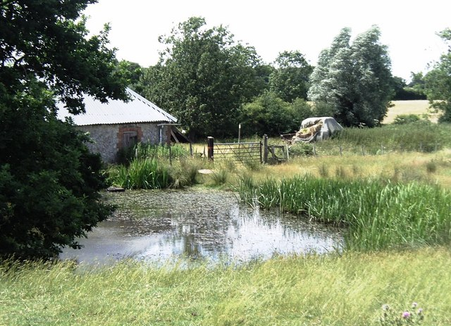 Pond at Lone Barn Farm south of Kingsnorth