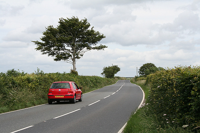Beaworthy: the A3079 road