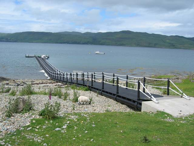New jetty on Loch na Keal