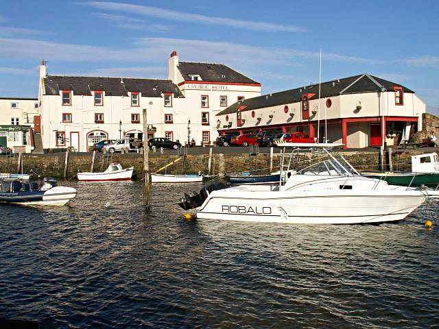 Crusoe Hotel and harbour, Lower Largo