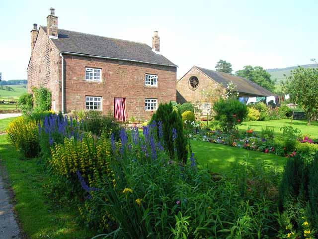 Cottage garden at Meadows Farm