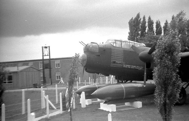 Lancaster Bomber At The Main Gate, RAF Scampton