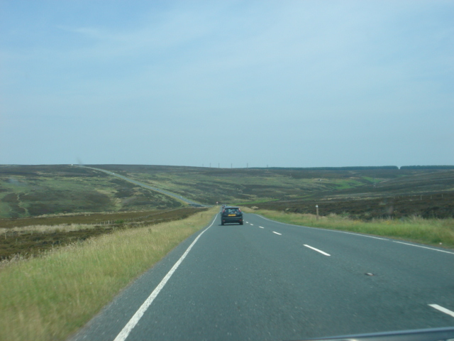 A169 road over Goathland Moor