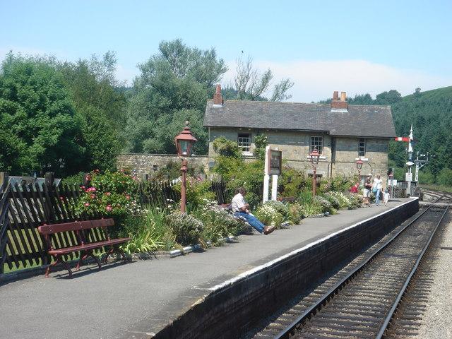 Levisham station platform