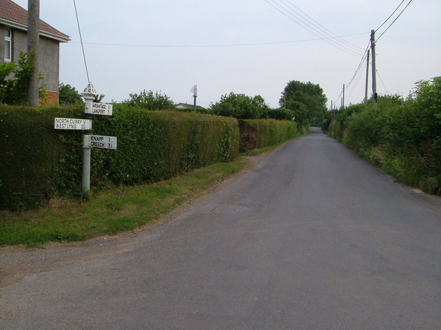 Greenway, North Curry at junction of Oxen Lane