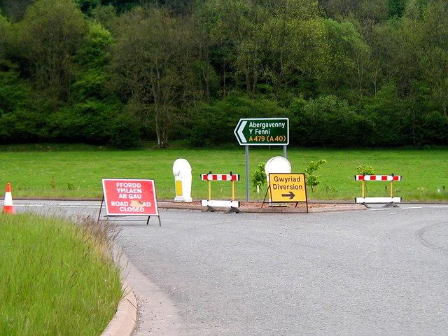 Roundabout Near Llyswen