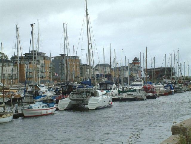 Portishead Docks and Harbourside housing
