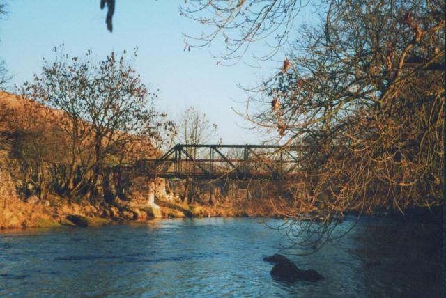 Footbridge on Old Gang Lane