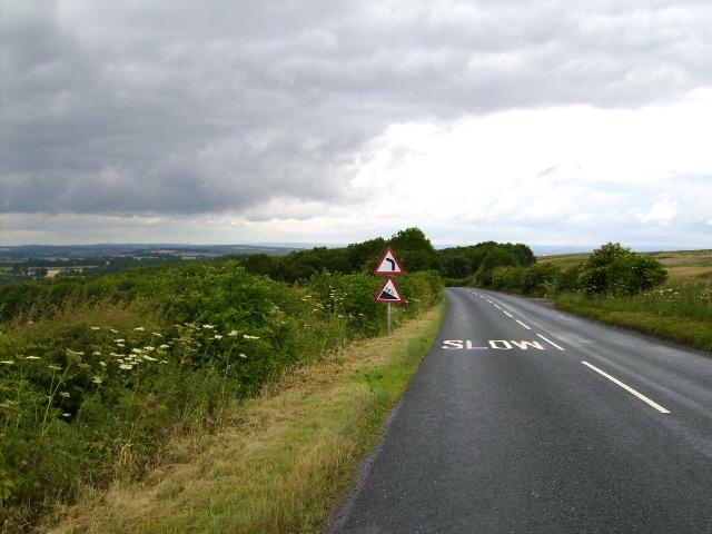 The B1248 near North Grimston