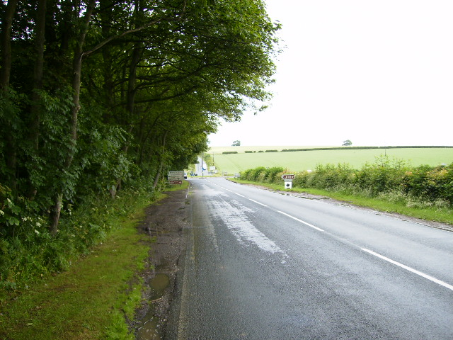 Approaching Fimber roundabout on the B1248