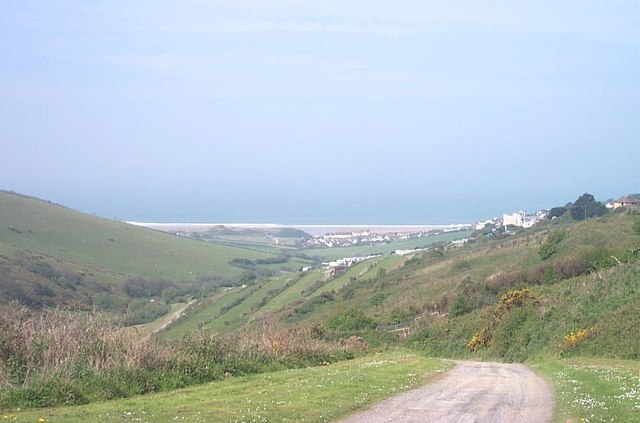 Looking down into Woolacombe