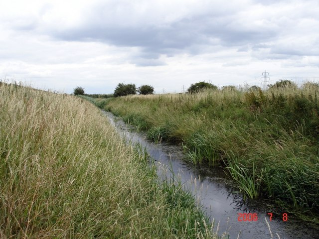 Drainage ditch on Frodsham Marsh