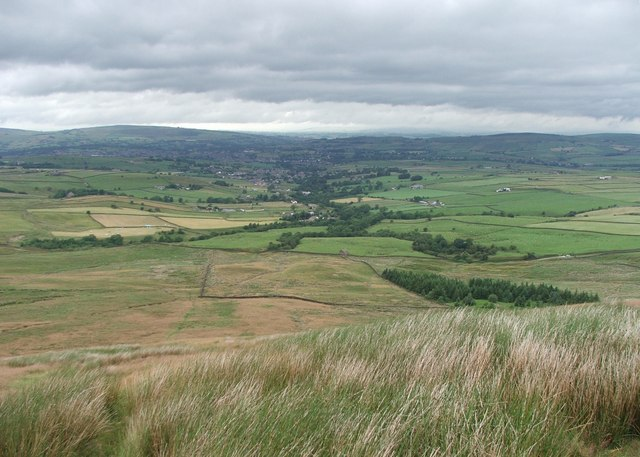 Trawden from Boulsworth Hill.