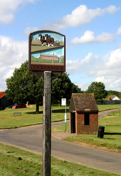 Cockernhoe Village Sign and Green