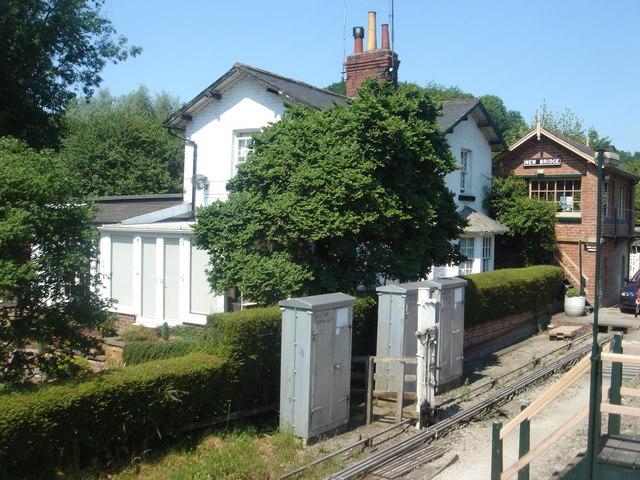 North Yorks Moors railway at New Bridge