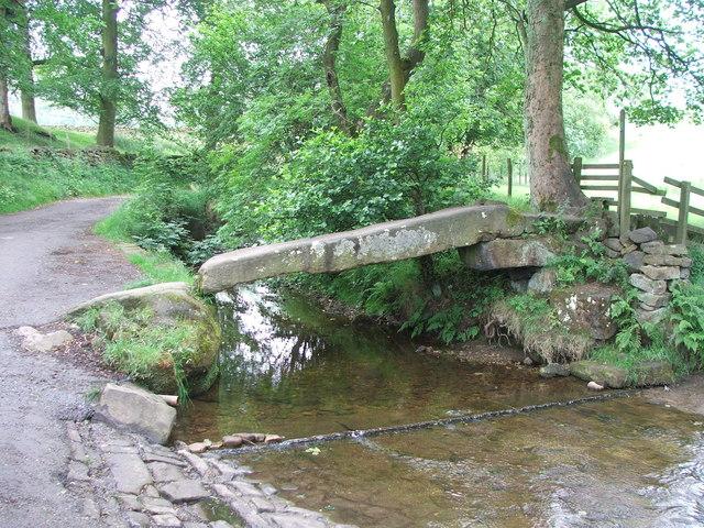 Clapper Bridge Over Wycoller Beck