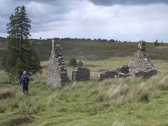 Ruin on open moorland