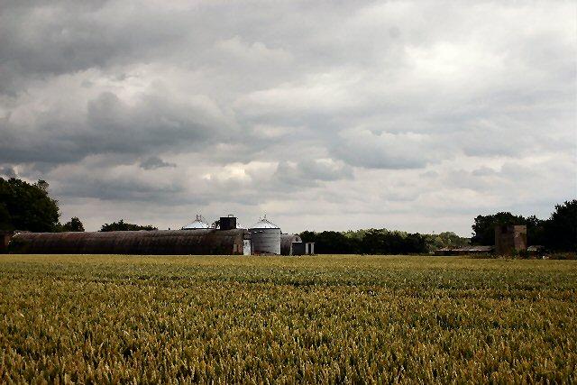Former airfield buildings at Clapstile Farm