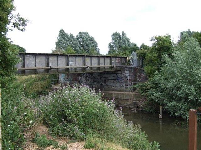 The iron bridge, near creek crossing