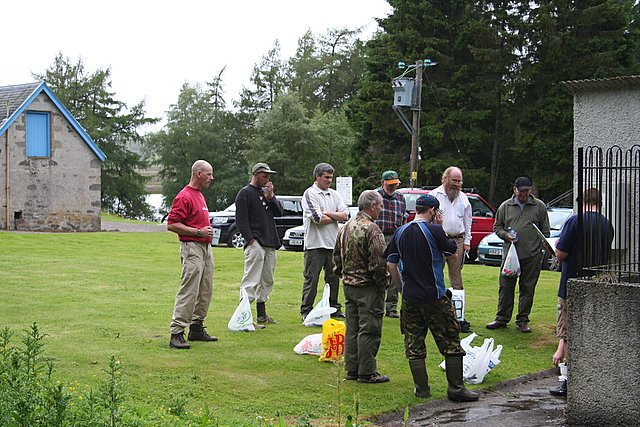 Awaiting the result of the trout fishing competition.