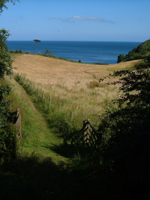 South West Coast Path from Teignmouth Road, Dawlish