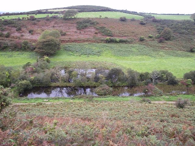 Cwm Gwyn ponds with Crug Cilshafe 2004