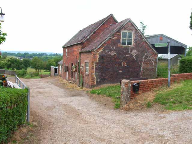 Old farm buildings at Knenhall Farm