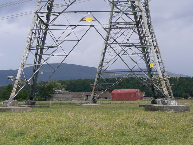 Dwarfed by the pylon
