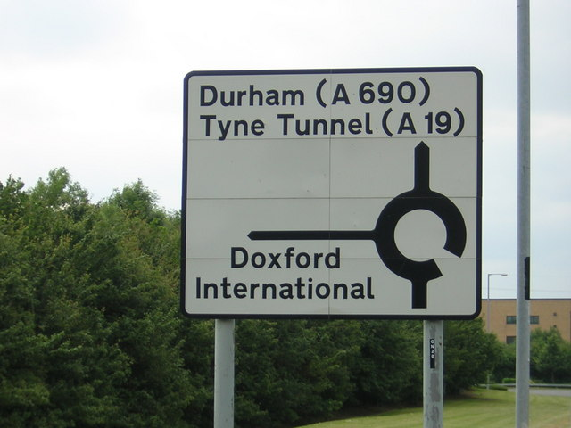 Road sign on approach to Doxford International Business Park