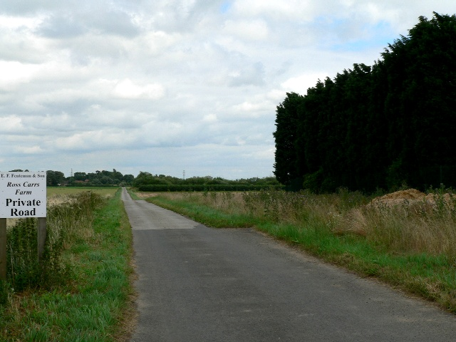 Private Road to Ross Carrs Farm