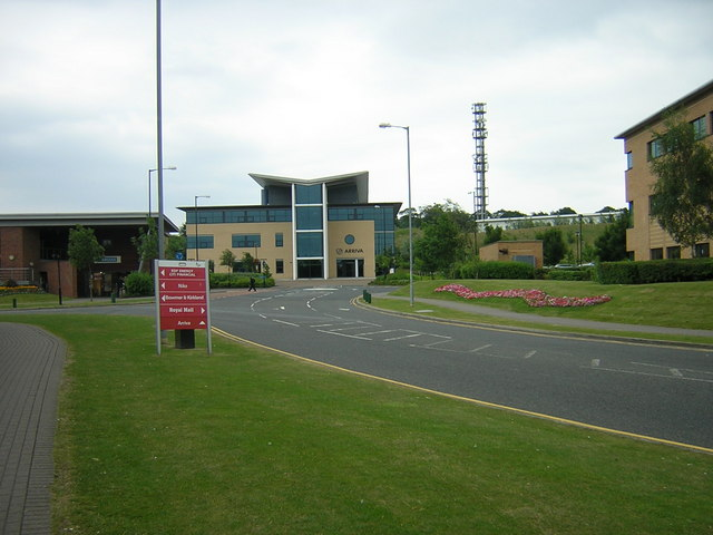 Arriva Building with Communications Tower